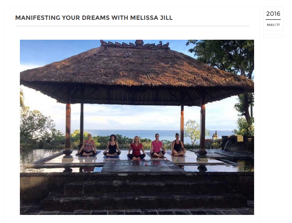 MANIFESTING YOUR DREAMS WITH MELISSA JILL